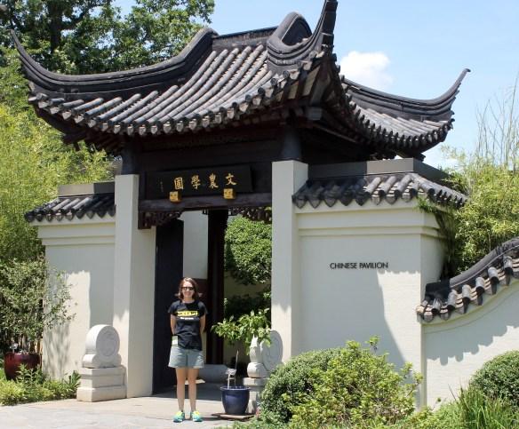 Katie B at Chinese Bonsai Pavillion, USNA