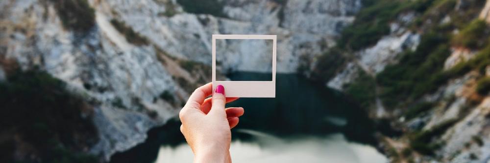 Cliffs daylight frame hand