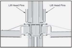 lift head pins