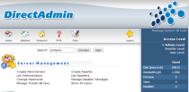 DirectAdmin Web Interface Admin Level