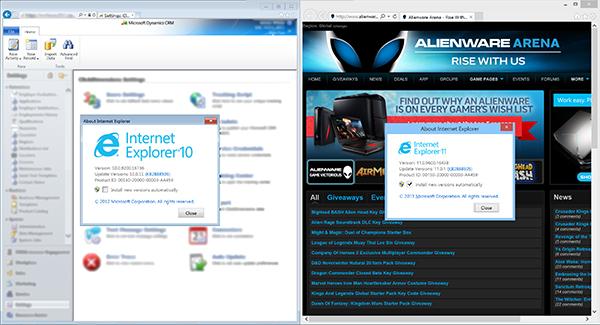 Internet Explorer 10 and 11
