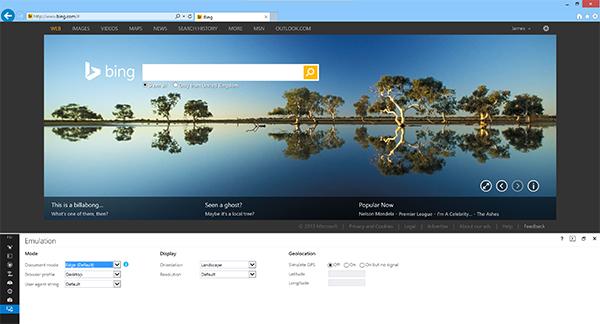 Internet Explorer 11 Dev tools