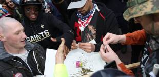Protests Pause for Pot
