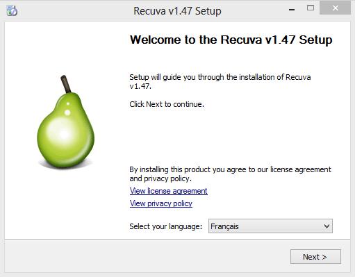 recuva_installation
