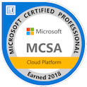 Microsoft Certified Solutions Associate Cloud Badge