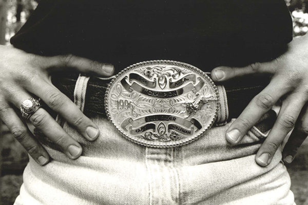 rodeo rider championship buckle by John Hicks