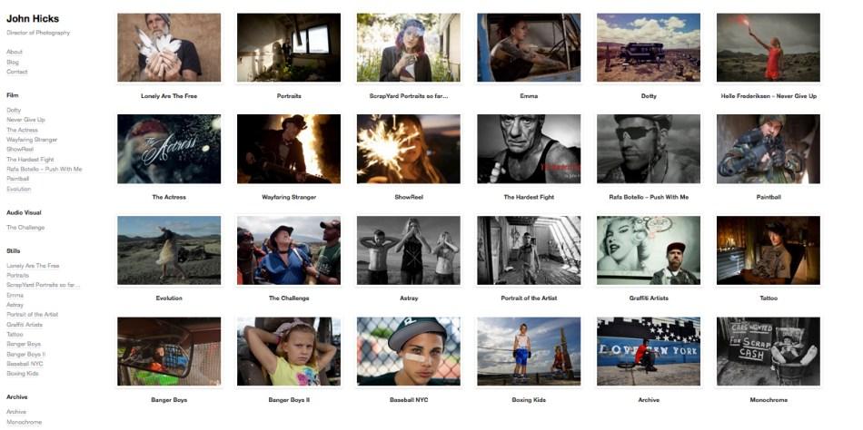 john hicks photography & film website