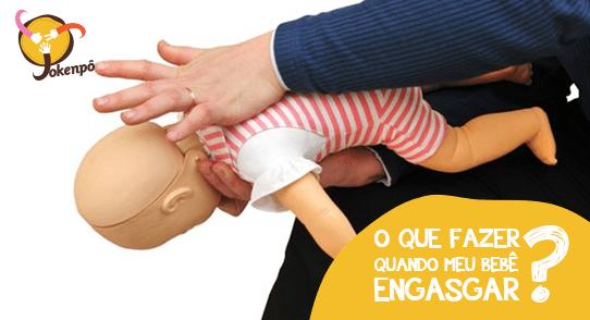 O que fazer quando meu bebê engasgar?