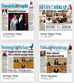 A magyar lappiac lapjaiból - köztük az Új Dunántúli Napló