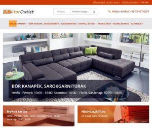 ABútor Outlet Bútoráruház - kanapé a honlapon