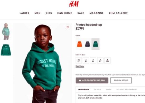 H&M botrány reklám