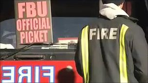 Firefighters are striking over planned changes to their working hours
