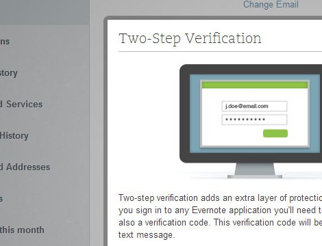 Evernote / Two-Step Verification