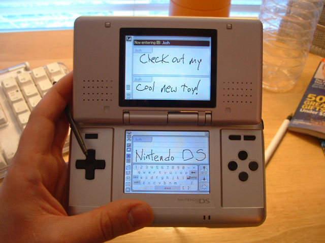 A picture of my new Nintendo DS