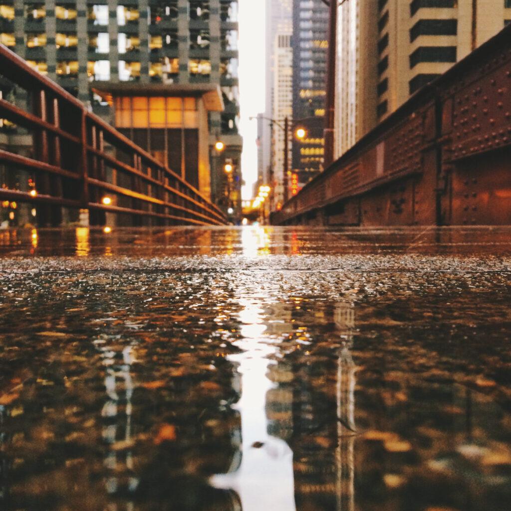 Rain Water on Street