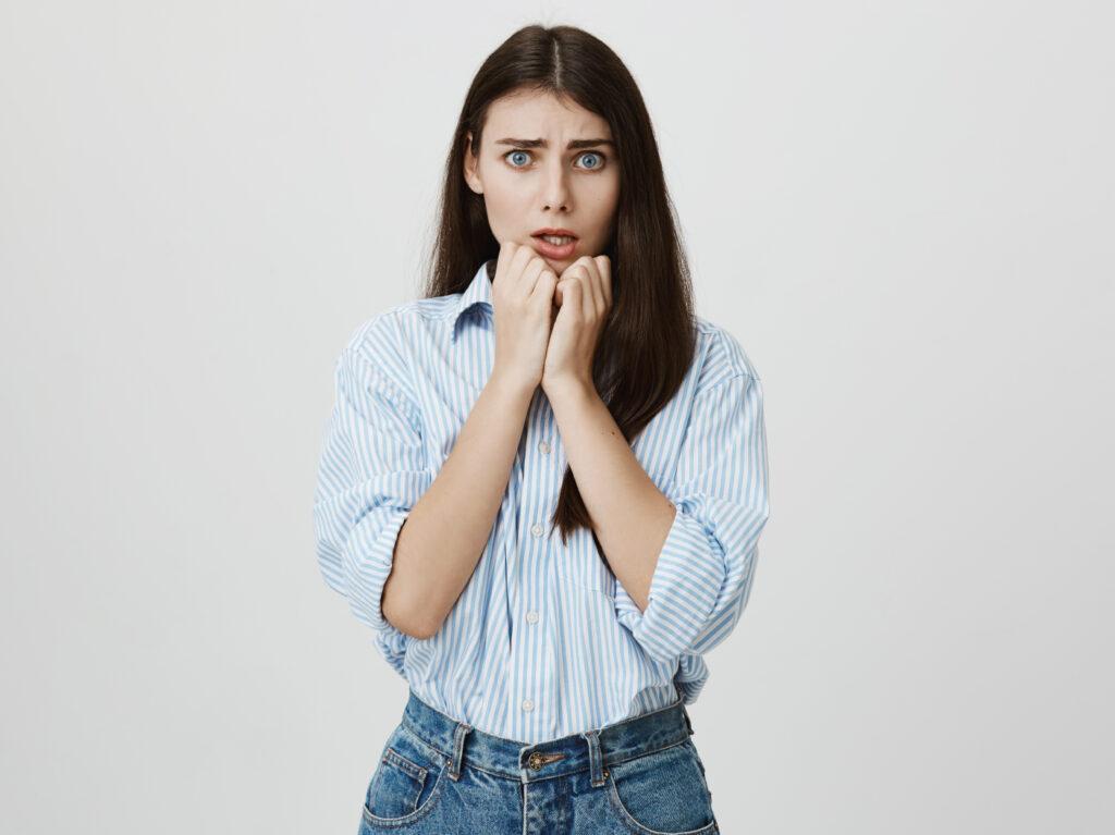 An anxious girl