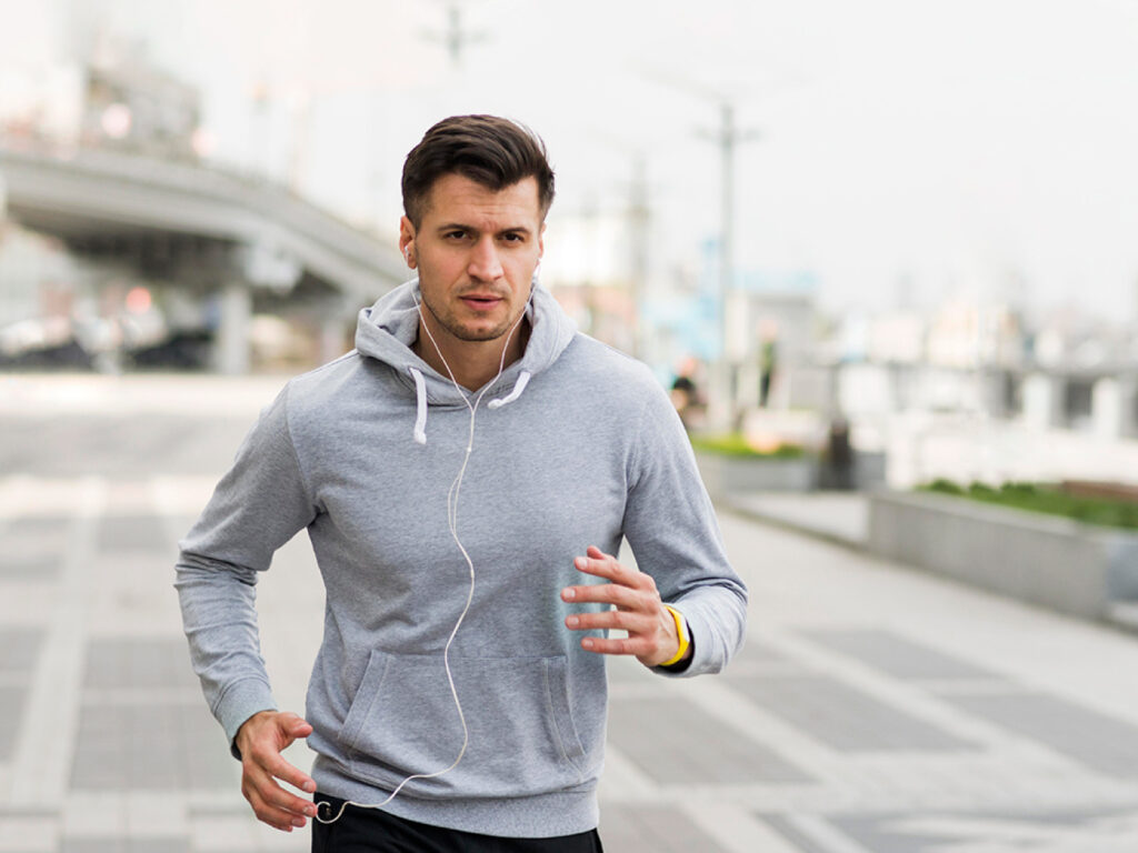 A Motivated Jogger