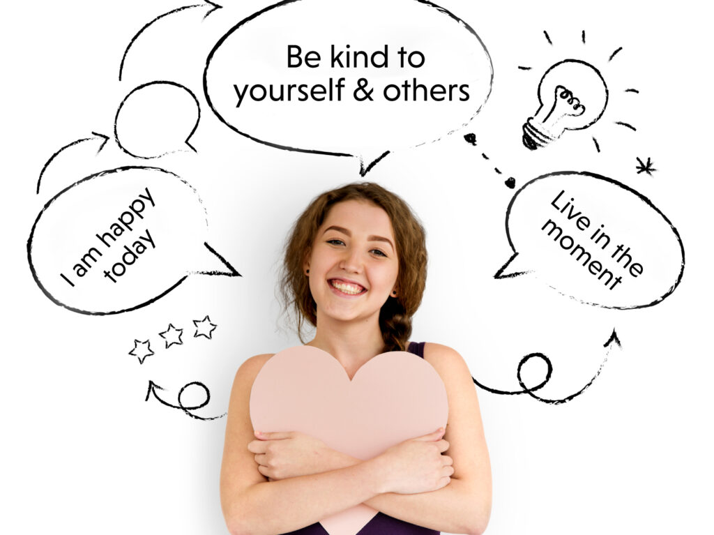 Speaking positiviely one of the ways to project positive thoughts is