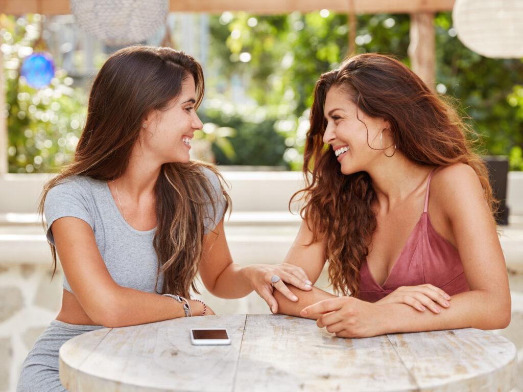 Happiness habit is talking to friends