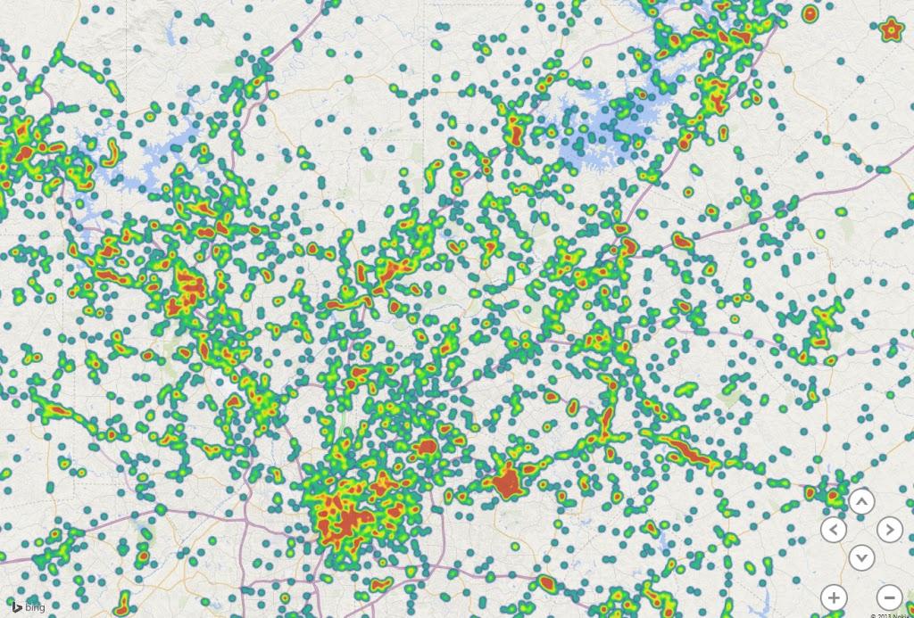 Geocache Heatmap with Power Map Jeff Pries