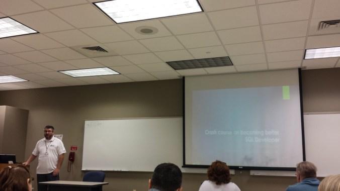 "Vladimir Oselsky presenting ""Crash Course on Becoming a Better SQL Developer"""