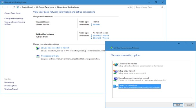 Setting up a Windows 10 VPN Client