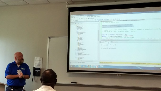 Anders Pedersen presenting IO Tuning 101 at SQL Saturday 560