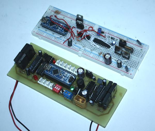Mosfet Motor controller breadboard design