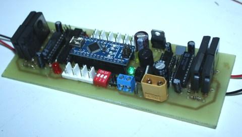 second version of sumo robot motor controller card