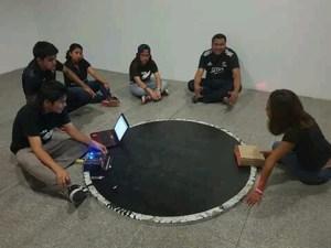 sumo robot team on dohyo