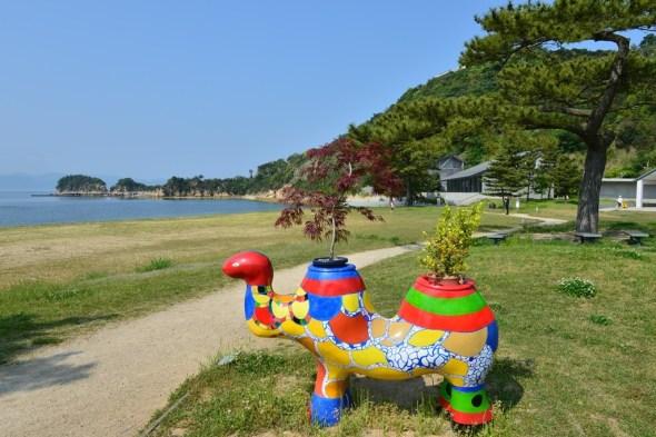 Artwork at Naoshima Benesse House