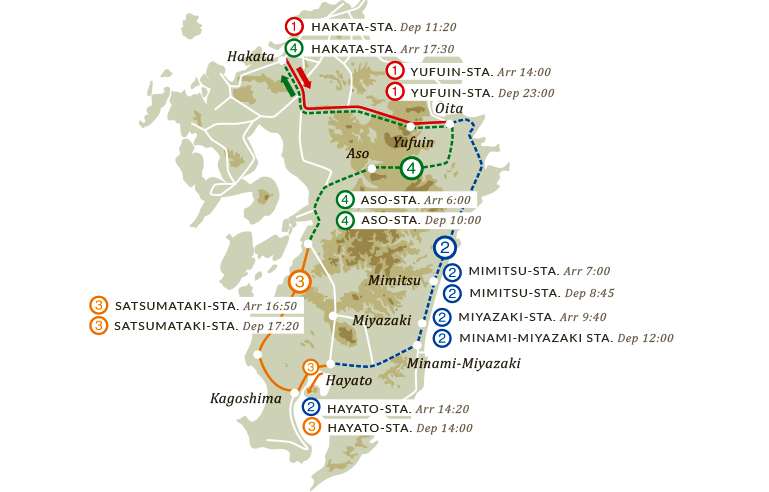 4-days 3-nights coursemap