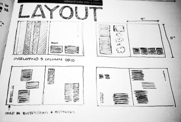 Publishing layout press example