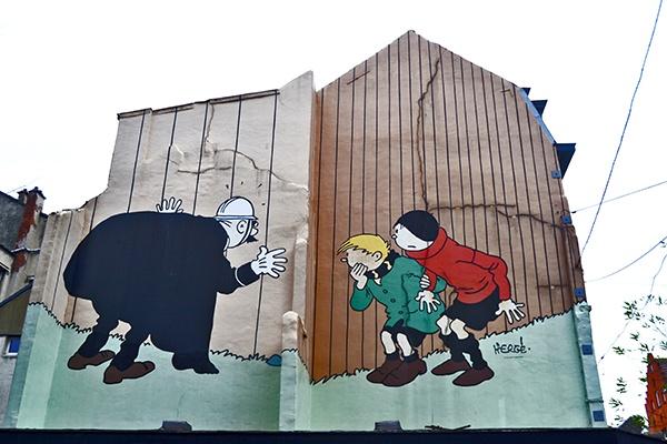 Viñeta cómic en Quartier Marolles imagen
