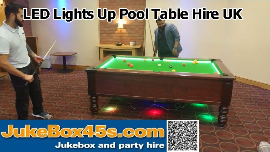 Led Lights Up Pool Table Hire
