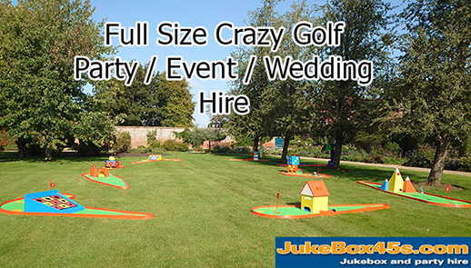 Crazy Mini Golf Party Hire UK