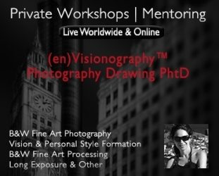 workshops and online mentoring fine art black and white photography, architecture, long exposure