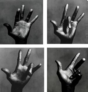 Miles Davis Hands by Irving Penn