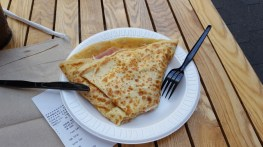 Une fausse galette jambon-oeuf-fromage
