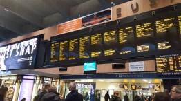 Le tableau des départs à Euston