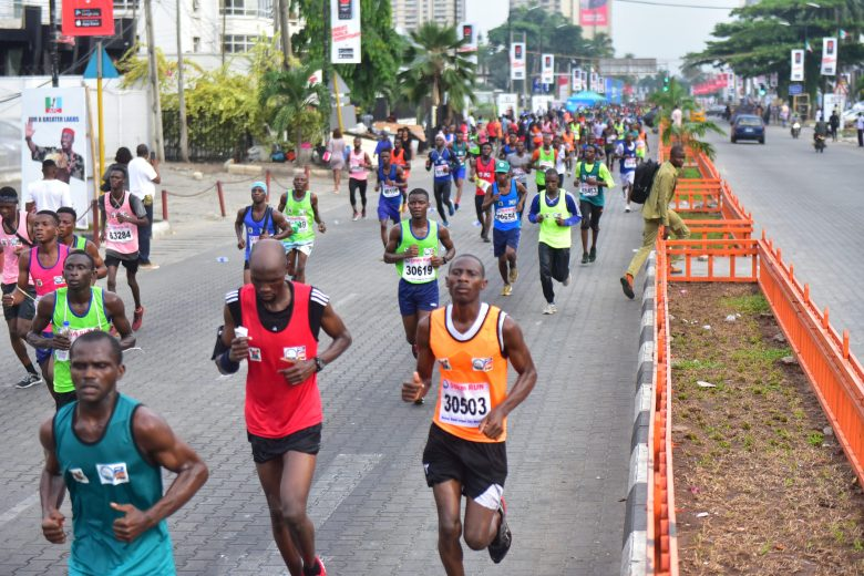 Runners at the 2019 Lagos City Marathon