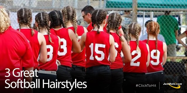 3 great softball hairstyles