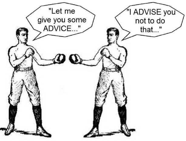 Choosing whose advice you'll accept.