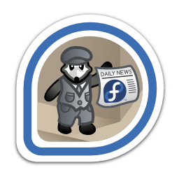 Extra! Extra! badge, given to Fedora Magazine contributors