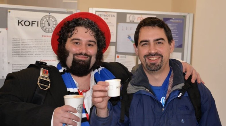 Remy DeCausemaker (decause) and Matthew Miller (mattdm), Fedora partners in crime