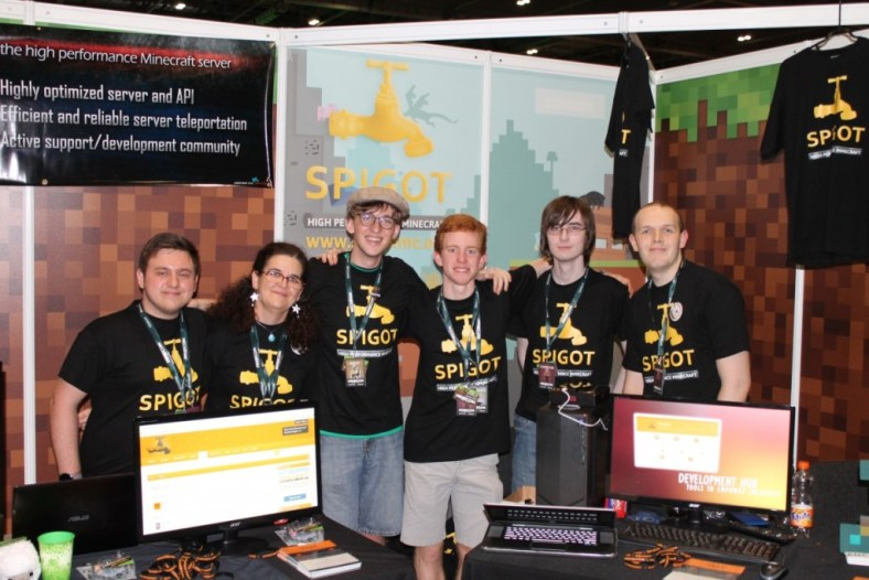 SpigotMC Team at MINECON 2015 in London, England