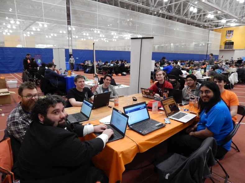 Fedora and Mozilla hack session at BrickHack 2016, RIT