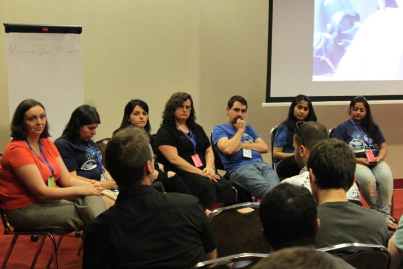 Intense thinking on the Diversity Panel at Fedora Flock