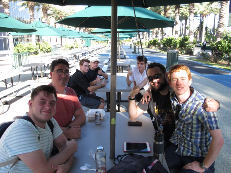 SpigotMC team grabs lunch on Friday and meets others in the community at MINECON 2016 in Anaheim, California