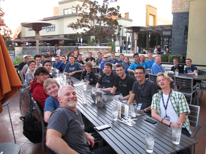 The annual SpigotMC dinner, where the community joins the staff team for a night of food and fun at MINECON 2016 in Anaheim, California